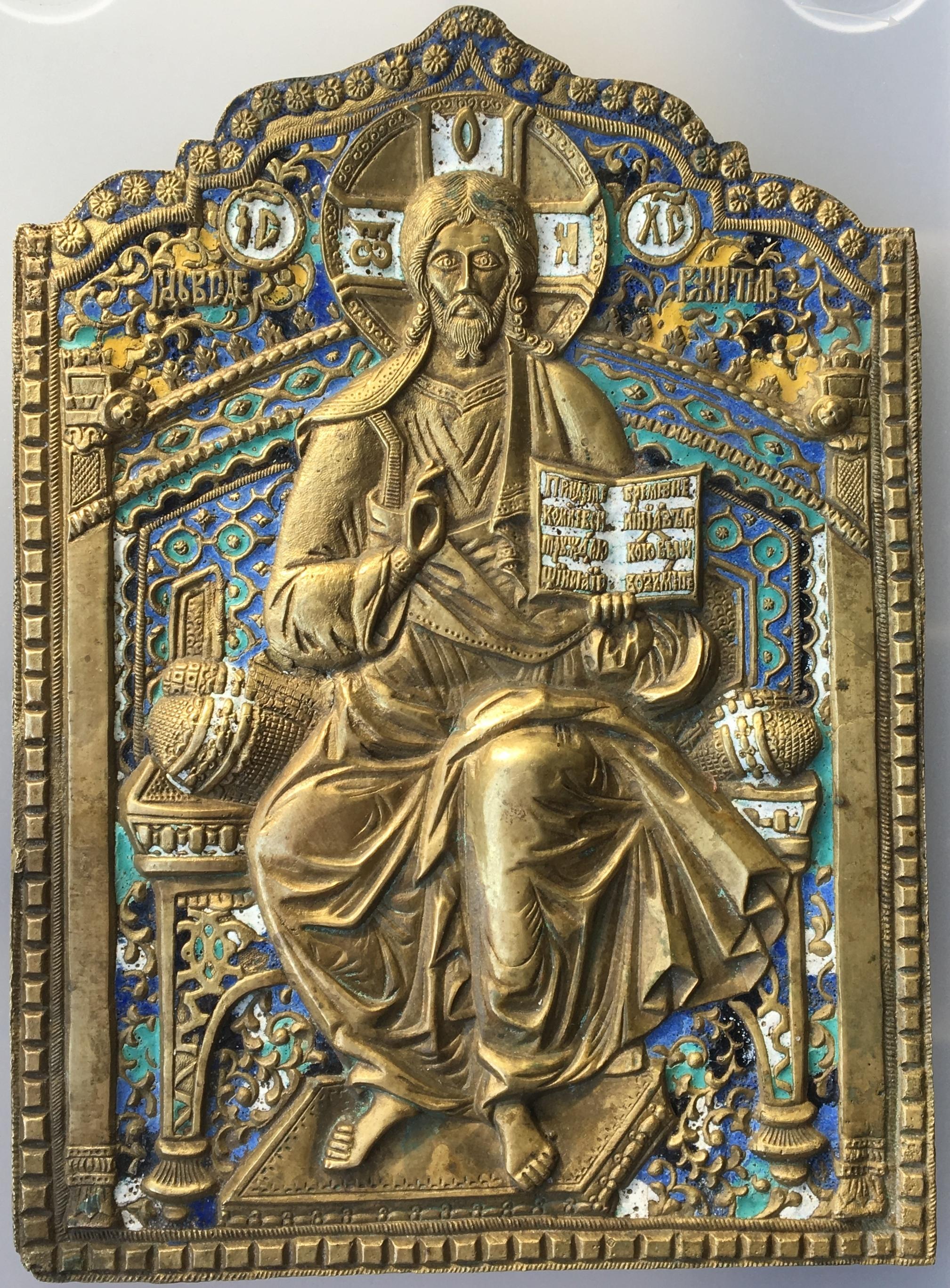 Икона Спас на престоле. Родион Хрусталев. 6 цв. Размер 22х16 см. Цена 250000 р.